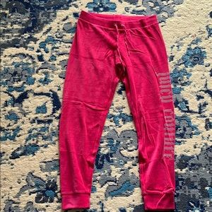 Juicy Couture Hot Pink Velour Joggers